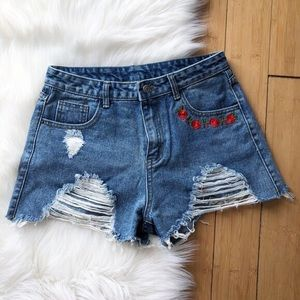 Reworked High Rise Levi Shorts
